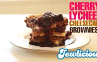 Shavuot Recipe: Cherry Lychee Cheesecake Brownies